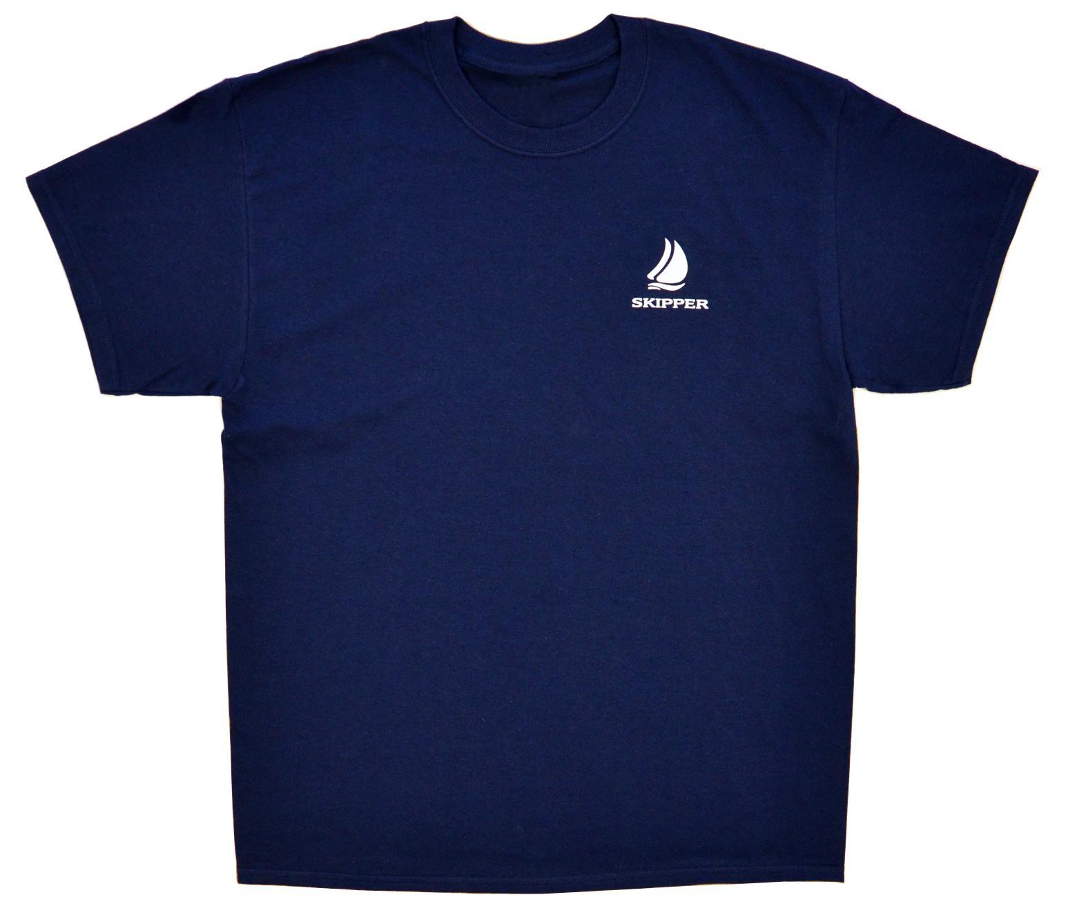 Kapitánské triko s nápisem SKIPPER - tmavě modré 3bdf6ff90f