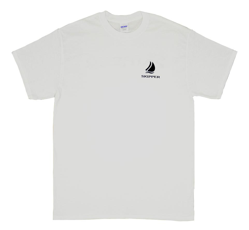 Kapitánské triko s nápisem SKIPPER - bílé db93ace34d