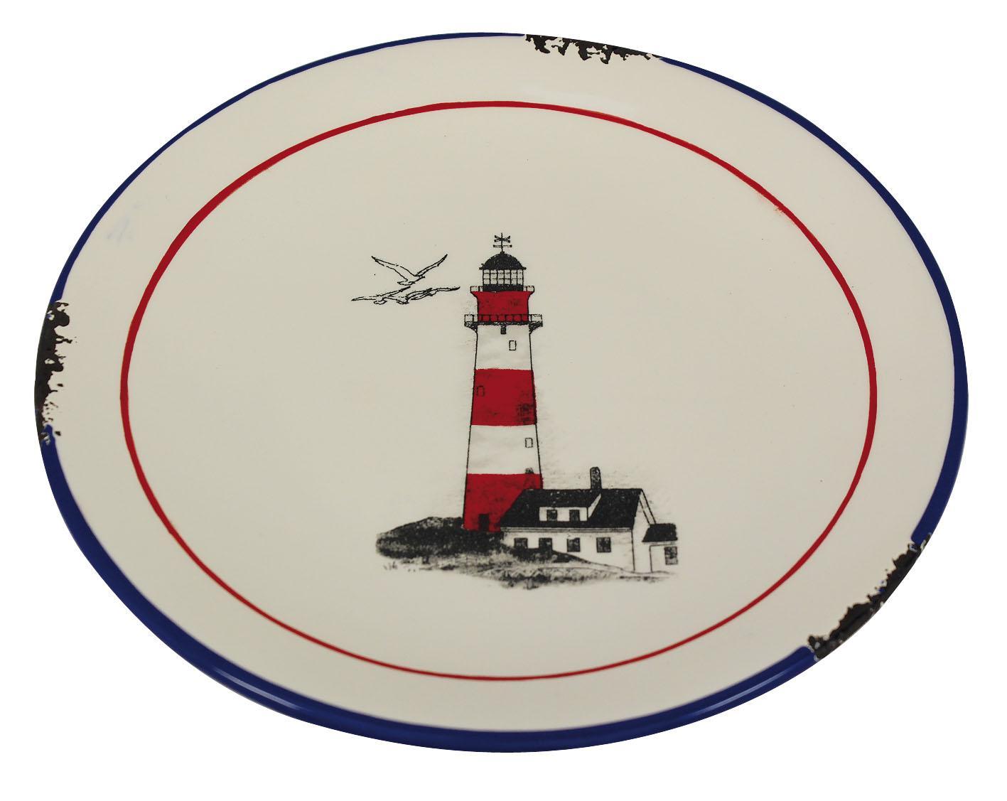 2a55996a5536 Keramický talíř velký - motiv maják 20 cm