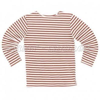 Námořnické triko dlouhý rukáv červenobílé pruhy - ruské námořnictvo ... 787b948035
