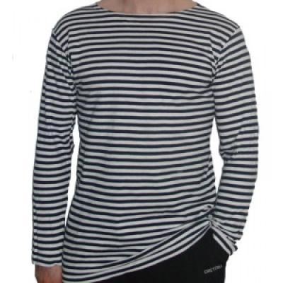 Námořnické triko dlouhý rukáv černobílé pruhy - ruské námořnictvo ... a642b53326