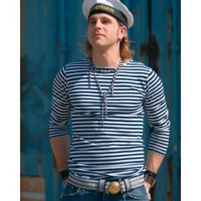 Námořnické triko dlouhý rukáv modrobílé pruhy - ruské námořnictvo ... 0d21bfd3e7